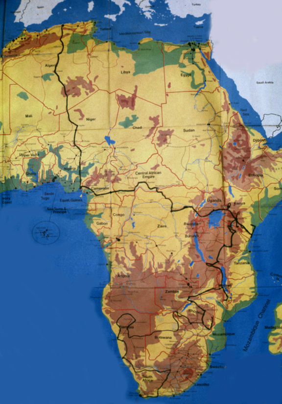 Africa Overland 1982